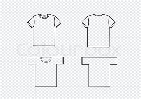 T Shirt Design Templates Stock Vector Colourbox Fashion Design T Shirt Templates