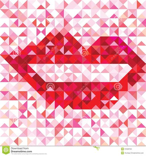 love pattern background vector seamless love pattern of geometric lip stock photography