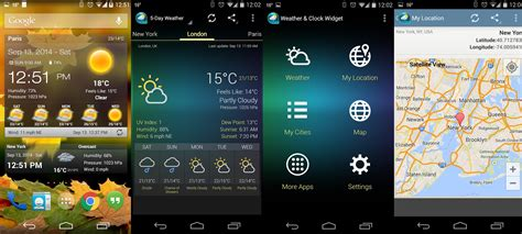 weather clock widget android best android weather widgets