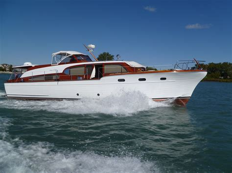 best express model boats 1955 53ft chris craft conqueror such a beauty what