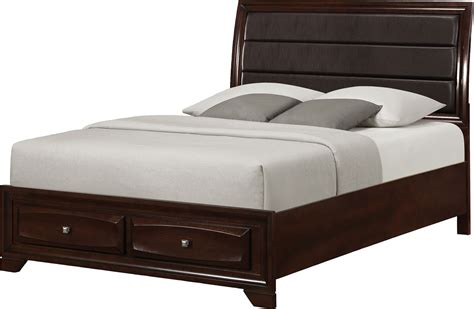 Bed Image | jaxon queen storage bed the brick