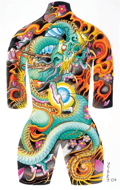 traditional full body japanese tattoo tattoo body suit poster 002 by azmousejockey on deviantart