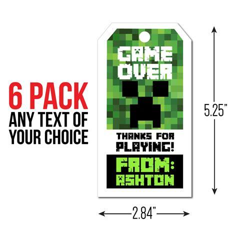 Minecraft Thank You Card Template by Minecraft Birthday Supplies Supplies Canada