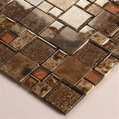 Decorative Glass Tile by Brown Glass Mosaic Tile Marble Tile