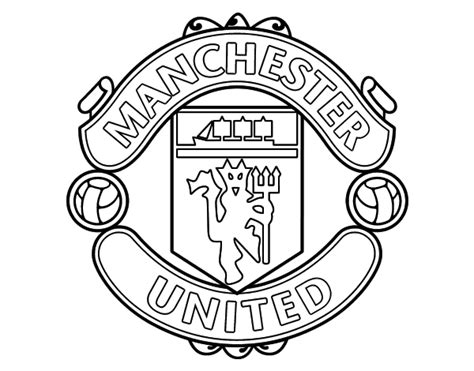 Utd Colouring Pages Free Coloring Pages Of Manchester United Logo