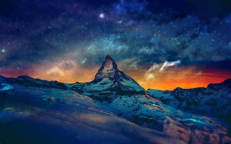 mountain night wallpaper  wallpapersafari