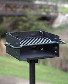 Backyard Grill Park Titan Single Post Park Grill Charcoal Grill Bbq Outdoor
