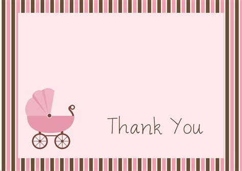 free baby shower thank you card templates ideas anouk invitations