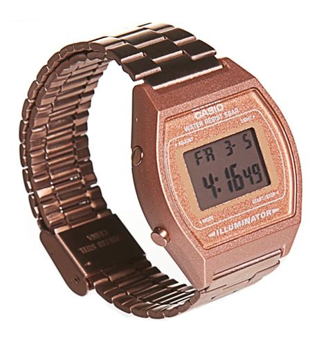 gold retro casio illuminator b640wc 5aef from casio