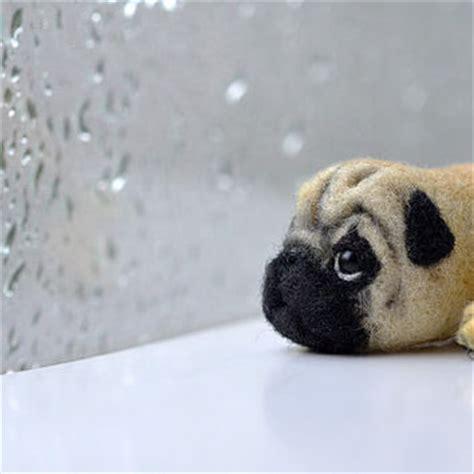 needle felted pug best pug products on wanelo