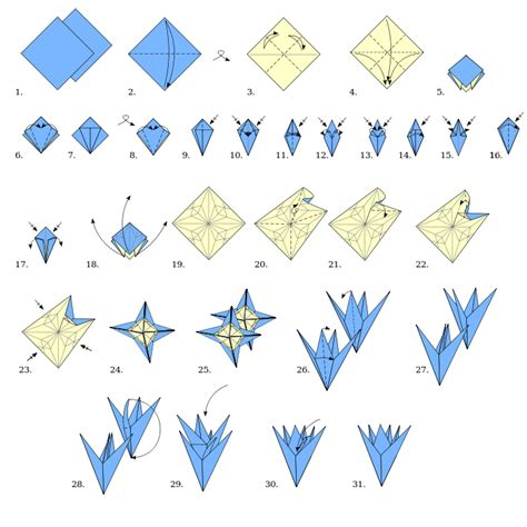 Type Of Origami - origami types modular origami flower wikibooks open