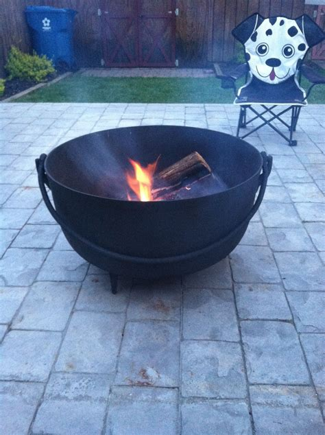 butcher kettle fire pit outside pinterest kettle and