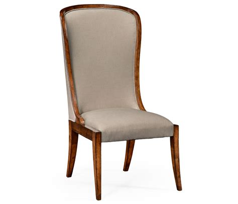 Curved Dining Chair High Curved Back Upholstered Dining Side Chair