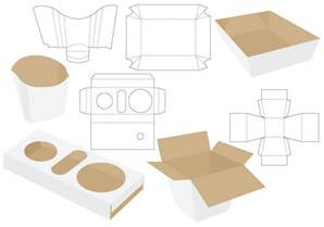 Packaging Die Cut Template by Die Cut Food Packages Free Vector Stock