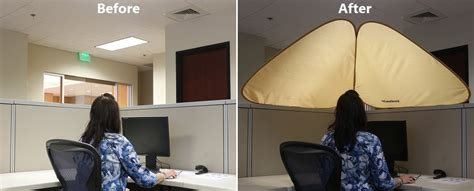 cubicle overhead light shade cubeshield less light more privacy work better