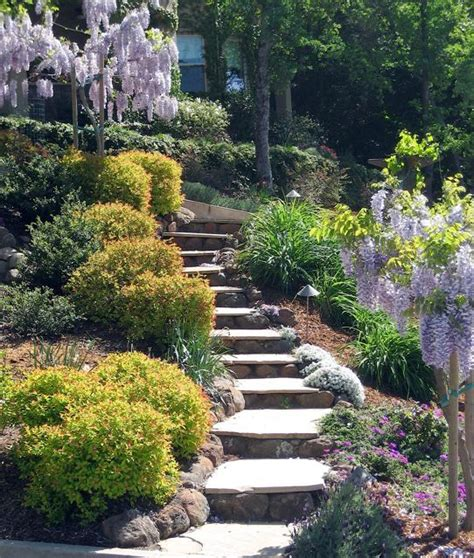 Uneven Backyard by Stair Effects With Uneven Backyard Ideas Outdoor Space