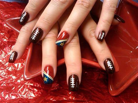 Patriots Nail Design