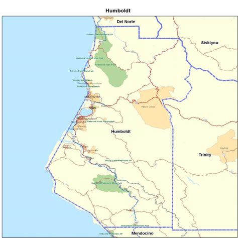 humboldt map image gallery humboldt county map