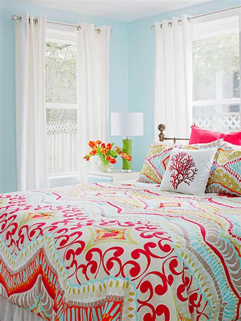 bright color schemes for bedrooms real life colorful bedrooms better homes and gardens