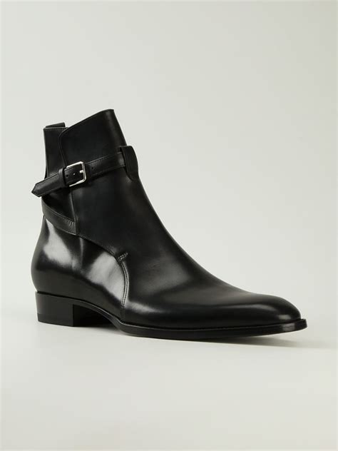 mens laurent boots laurent hedi ankle boots in black for lyst
