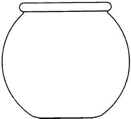 fish bowl outline clipart
