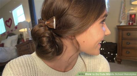 hairstyles guys love in middle school 4 ways to do cute middle school hairstyles wikihow