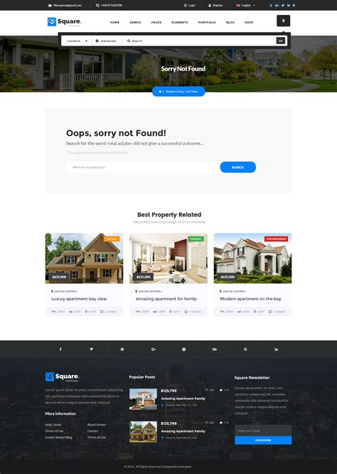 moodle theme was not found sorry square professional real estate psd templates by