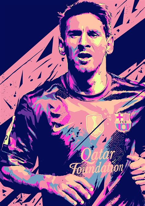 Football Artwork Messi 1 lionel messi football illustrations on behance