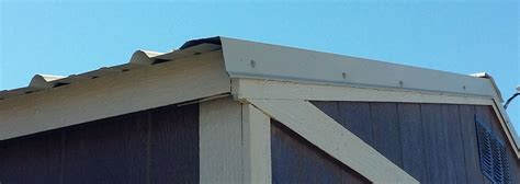 on roof how to install a metal roof instead of shingles on your shed