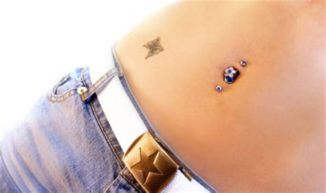 top and bottom belly bars funmasti4u navel piercing trend