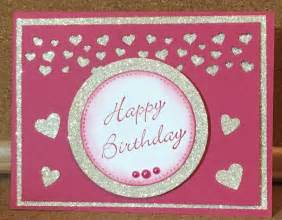 kathie s cards birthday hearts with glitter