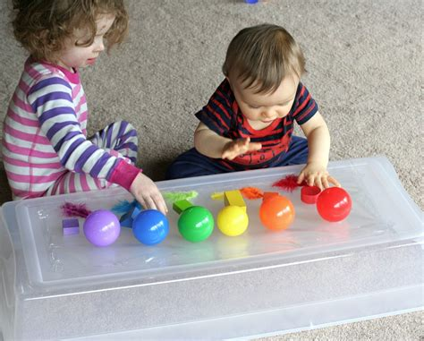 toddler projects baby play exploring sticky