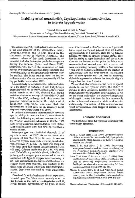 supplement no 2 to part 748 inability of salamdaersfish lepidogalaxias salamdrroides