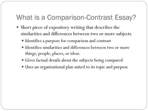 Compare And Contrast Fiscal And Monetary Policy Essay by Ppt Comparison Contrast Essay Powerpoint Presentation Id 2703190