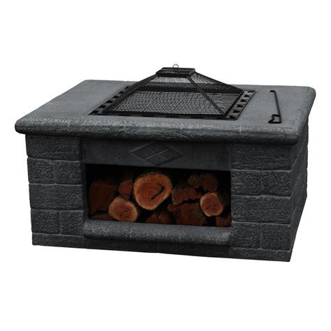 Firepit Bunnings Glow 94 X 72 X 58cm Charcoal Manzano Pit Bunnings Warehouse