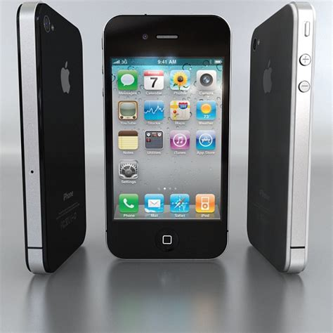 apple iphone 4g 3d model buy apple iphone 4g 3d model flatpyramid