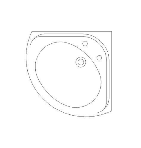 corner wash sink 2d cad corner wash basin cadblocksfree cad blocks free
