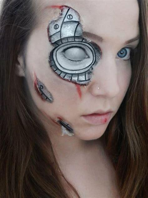 tutorial makeup robot robot makeup google search face paint pinterest