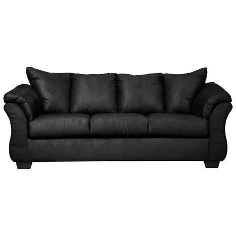 stationary sofa signature design by ashley darcy black contemporary