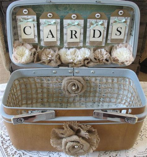 Vintage Suitcase Wedding Card Box Wedding Card Holder