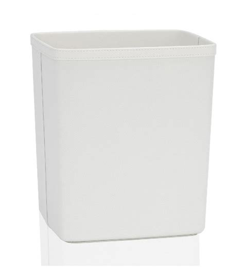 corbeille bureau corbeille 224 papier de bureau en similicuir blanc wadiga com