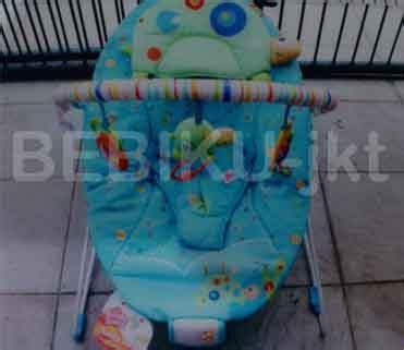 Babyelle Automatic Baby Swing Blue Ayunan Bayi Bouncer sewa bouncer bright starts murah di bekasi rental alat bayi