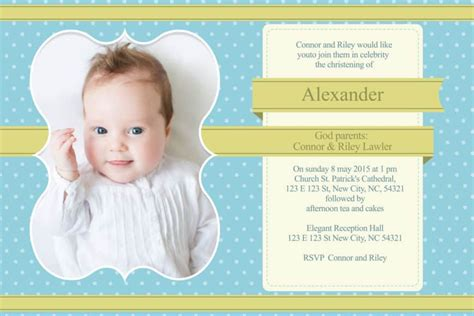 Christening Invitation Design 028 Photoshop Template Baptism Template Psd