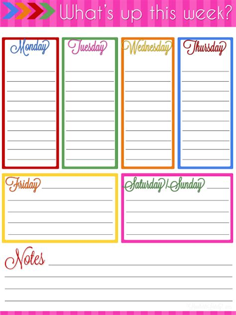 printable weekly planner notepad ultimate planner notebook add on weekly planner printable