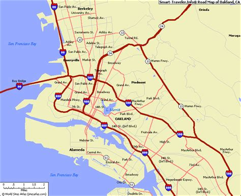 oakland california map map of oakland california california map