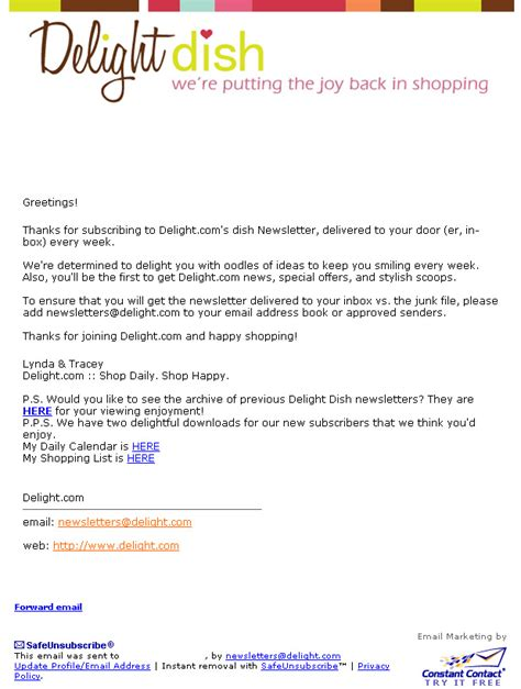 The Welcome Email Don T Blow The First Date Welcome Email Template