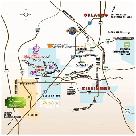 printable orlando area map map of orlando with attractions my blog