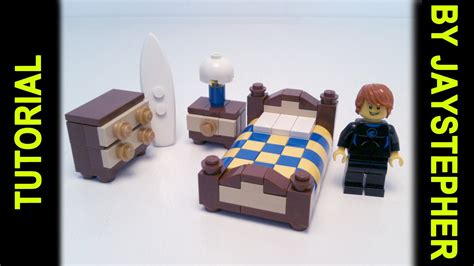 lego bed tutorial lego guest bedroom set cc youtube