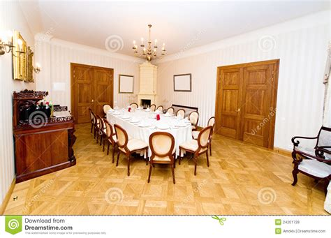 Vintage Style Dining Room by Vintage Style Dining Room Royalty Free Stock Photos