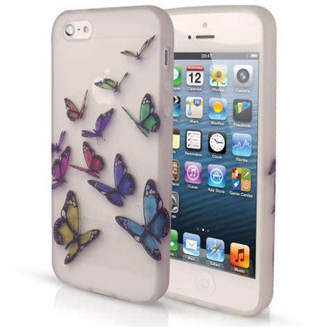 Soft Silikon Bergambar Karakter Iphone 5 5s siliconen voor iphone 5s 5 vlinder ontwerp